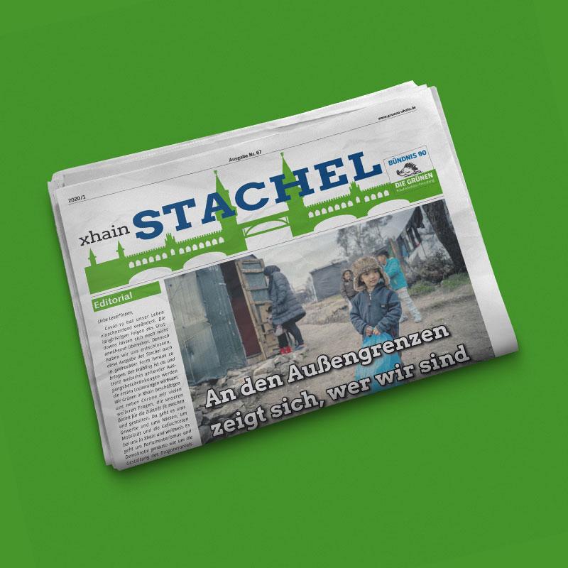 Grüne Xhain Stachel