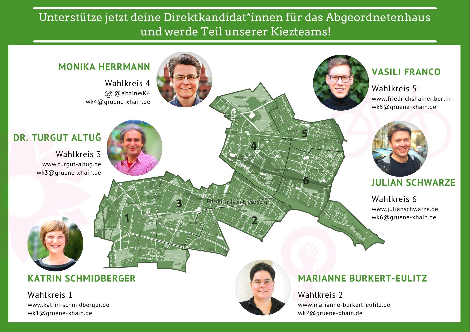 Kreuzberger Direktkandidat_innen für das Abgeordnetenhaus