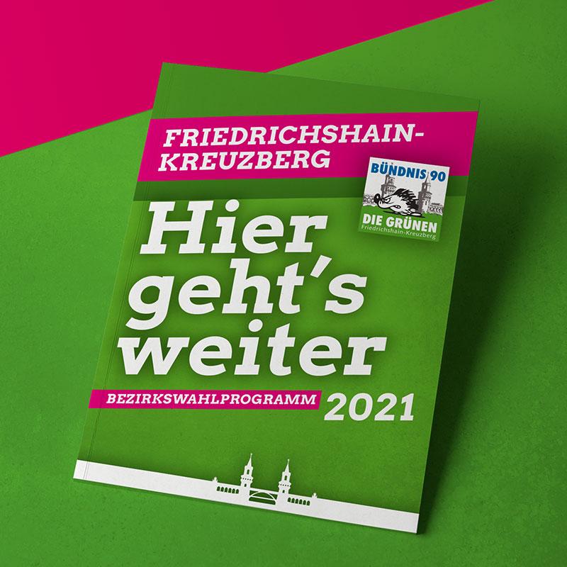 Grüne Xhain Wahlprogramm Wahlen des Bezirksparlaments 2021 Titel